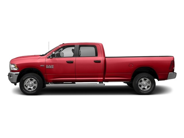 Bright Red 2017 Ram Truck 3500 Pictures 3500 Big Horn 4x2 Crew Cab 6'4 Box photos side view