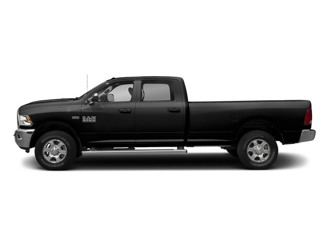 Brilliant Black Crystal Pearlcoat 2017 Ram Truck 3500 Pictures 3500 Crew Cab SLT 2WD photos side view