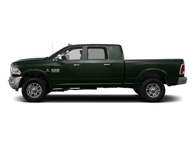 Black Forest Green Pearlcoat 2017 Ram Truck 3500 Pictures 3500 Laramie Longhorn 4x2 Mega Cab 6'4 Box photos side view
