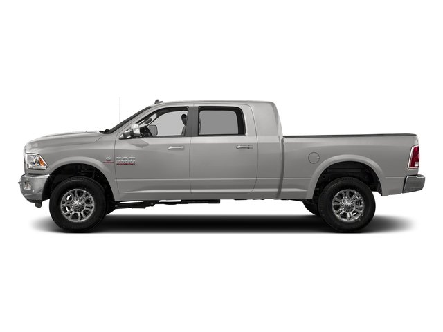Bright Silver Metallic Clearcoat 2017 Ram Truck 3500 Pictures 3500 Mega Cab Longhorn 4WD photos side view