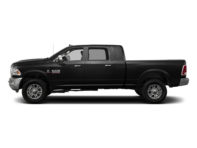 Brilliant Black Crystal Pearlcoat 2017 Ram Truck 3500 Pictures 3500 Laramie Longhorn 4x2 Mega Cab 6'4 Box photos side view
