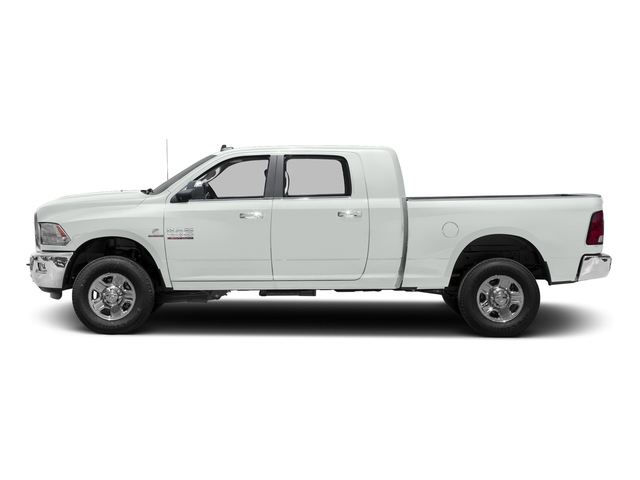 Bright White Clearcoat 2017 Ram Truck 3500 Pictures 3500 SLT 4x2 Mega Cab 6'4 Box photos side view
