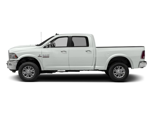 Bright White Clearcoat 2017 Ram Truck 3500 Pictures 3500 Crew Cab Laramie 4WD photos side view