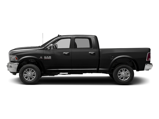 Brilliant Black Crystal Pearlcoat 2017 Ram Truck 3500 Pictures 3500 Crew Cab Laramie 4WD photos side view