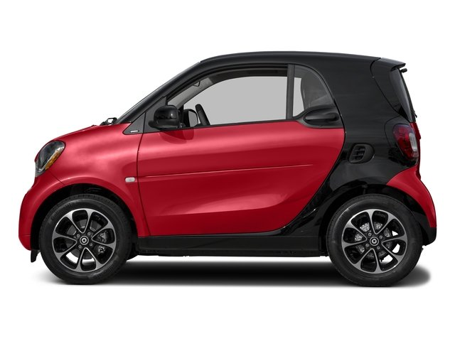 Red 2017 smart fortwo Pictures fortwo Coupe 2D Pure I3 Turbo photos side view