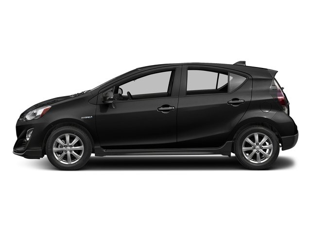 Black Sand Pearl 2017 Toyota Prius c Pictures Prius c Liftback 5D c Four I4 Hybrid photos side view