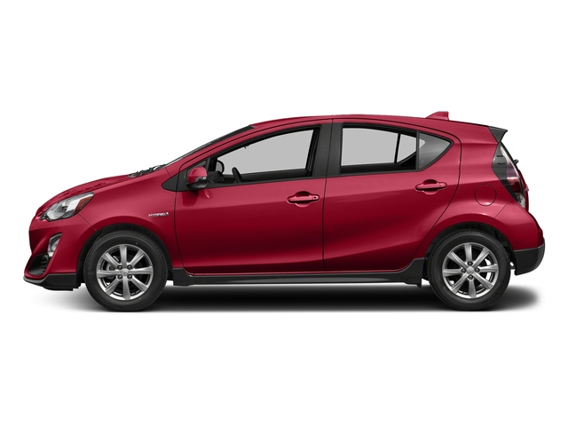 Absolutely Red 2017 Toyota Prius c Pictures Prius c Liftback 5D c Four I4 Hybrid photos side view