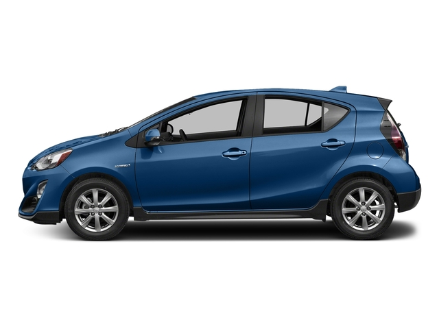 Blue Streak Metallic 2017 Toyota Prius c Pictures Prius c Liftback 5D c Four I4 Hybrid photos side view