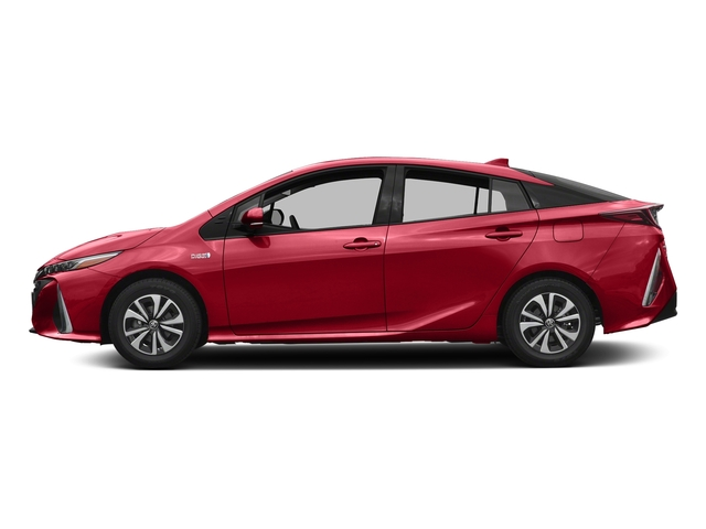 Hypersonic Red 2017 Toyota Prius Prime Pictures Prius Prime Liftback 5D Prime Plus I4 Hybrid photos side view