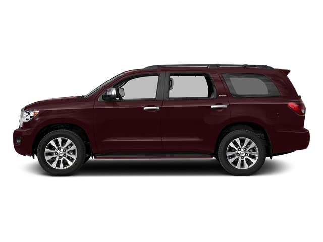 Sizzling Crimson Mica 2017 Toyota Sequoia Pictures Sequoia Utility 4D Limited 2WD V8 photos side view