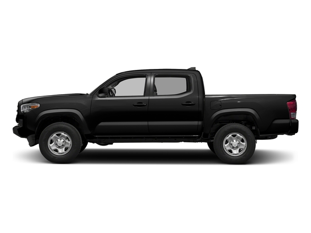 Black 2017 Toyota Tacoma Pictures Tacoma SR Crew Cab 4WD V6 photos side view