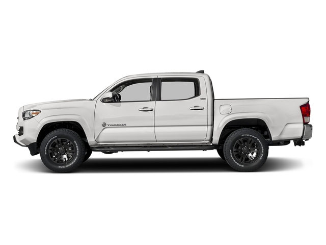 Super White 2017 Toyota Tacoma Pictures Tacoma SR5 Crew Cab 2WD V6 photos side view
