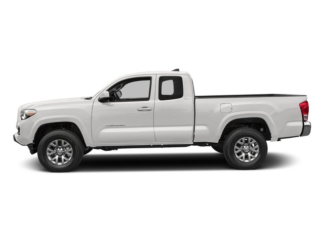 Super White 2017 Toyota Tacoma Pictures Tacoma SR5 Extended Cab 2WD V6 photos side view