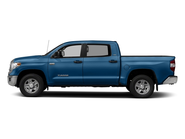 Blazing Blue Pearl 2017 Toyota Tundra 4WD Pictures Tundra 4WD SR5 CrewMax 4WD photos side view