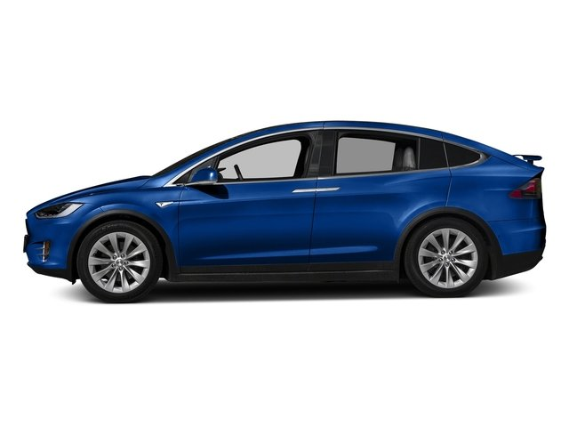 Deep Blue Metallic 2017 Tesla Motors Model X Pictures Model X Utility 4D 90 kWh AWD Electric photos side view
