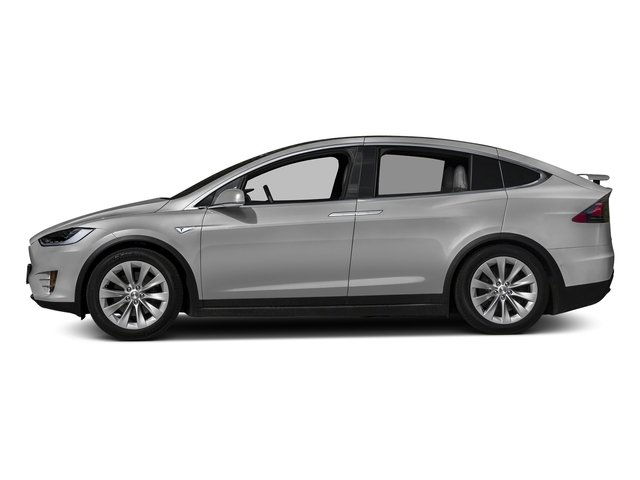 Silver Metallic 2017 Tesla Motors Model X Pictures Model X Utility 4D 90 kWh AWD Electric photos side view