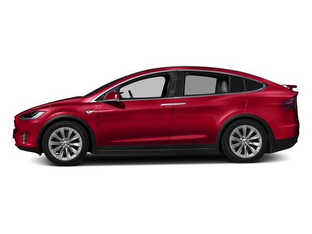 Red Multi-Coat 2017 Tesla Motors Model X Pictures Model X Utility 4D 90 kWh AWD Electric photos side view