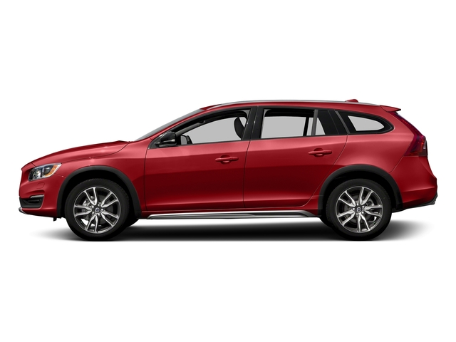 Passion Red 2017 Volvo V60 Cross Country Pictures V60 Cross Country Wagon 5D T5 Platinum AWD I4 Turbo photos side view