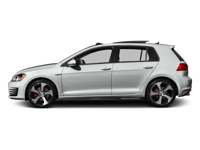 Pure White 2017 Volkswagen Golf GTI Pictures Golf GTI 2.0T 4-Door SE Manual photos side view