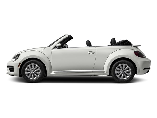 Pure White/Black Roof 2017 Volkswagen Beetle Convertible Pictures Beetle Convertible 1.8T Classic Auto photos side view