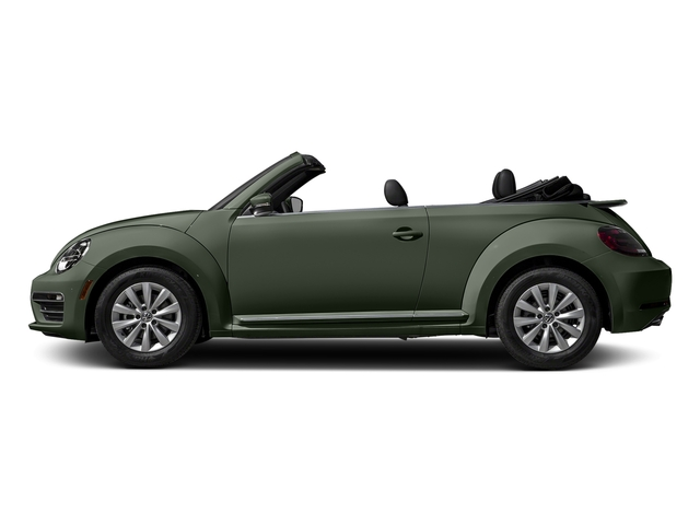 Bottle Green Metallic/Black Roof 2017 Volkswagen Beetle Convertible Pictures Beetle Convertible 1.8T Classic Auto photos side view