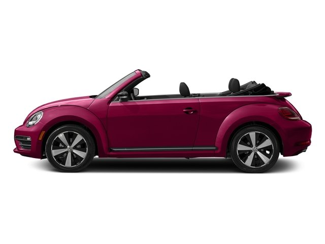 Fresh Fuchsia Metallic/Black Roof 2017 Volkswagen Beetle Convertible Pictures Beetle Convertible #PinkBeetle Auto photos side view