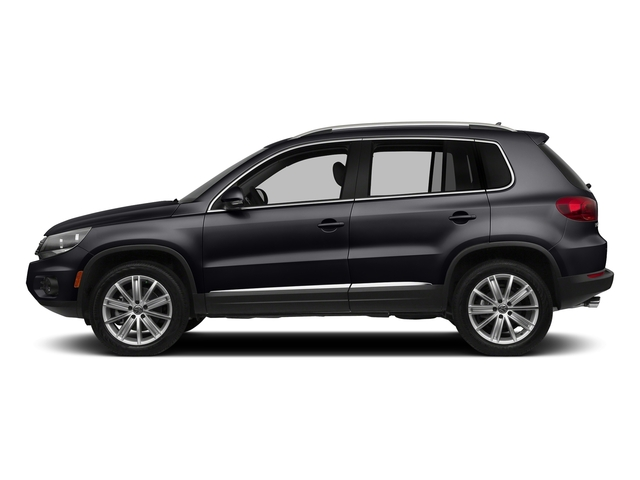Deep Black Pearl Metallic 2017 Volkswagen Tiguan Limited Pictures Tiguan Limited 2.0T FWD photos side view