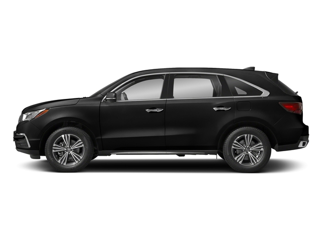 Crystal Black Pearl 2018 Acura MDX Pictures MDX FWD photos side view