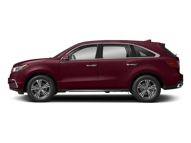 Basque Red Pearl II 2018 Acura MDX Pictures MDX FWD photos side view