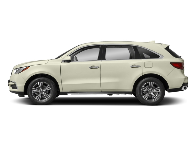 White Diamond Pearl 2018 Acura MDX Pictures MDX FWD photos side view