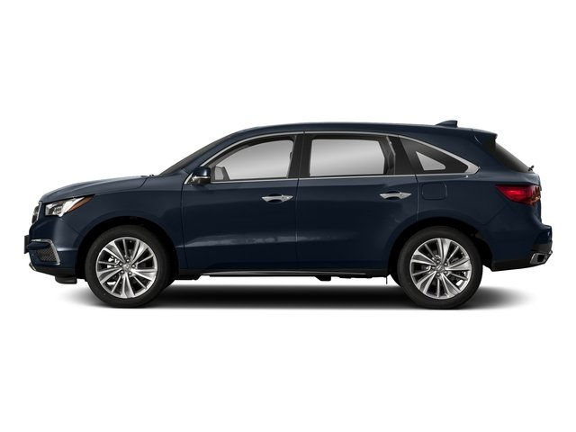 Fathom Blue Pearl 2018 Acura MDX Pictures MDX FWD w/Technology Pkg photos side view