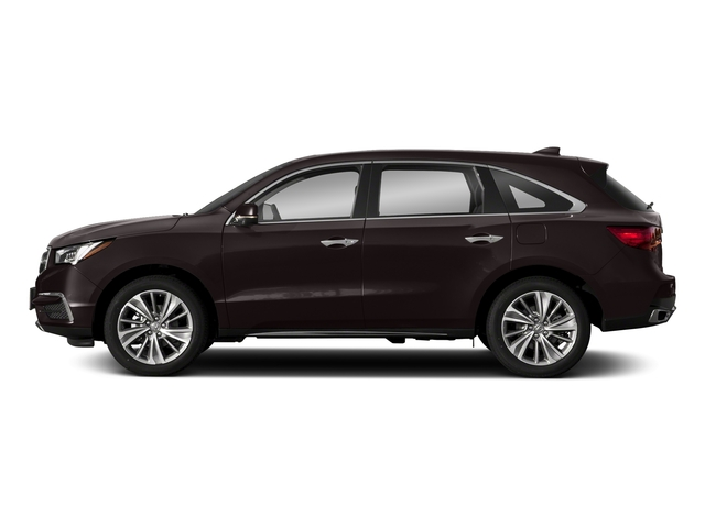 Black Copper Pearl 2018 Acura MDX Pictures MDX FWD w/Technology Pkg photos side view
