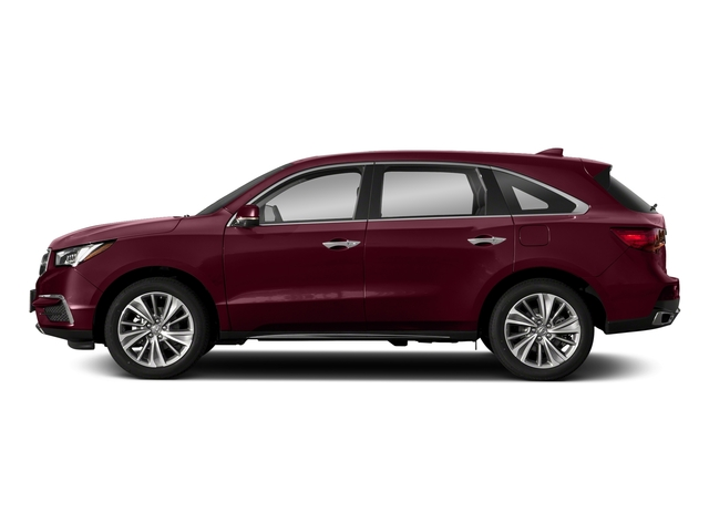 Basque Red Pearl II 2018 Acura MDX Pictures MDX FWD w/Technology Pkg photos side view