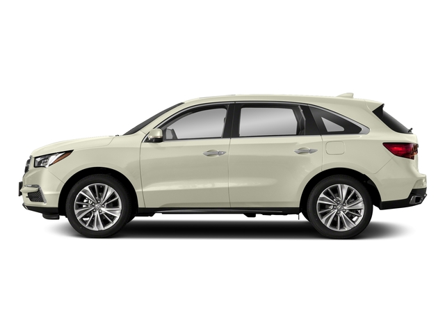 White Diamond Pearl 2018 Acura MDX Pictures MDX FWD w/Technology Pkg photos side view