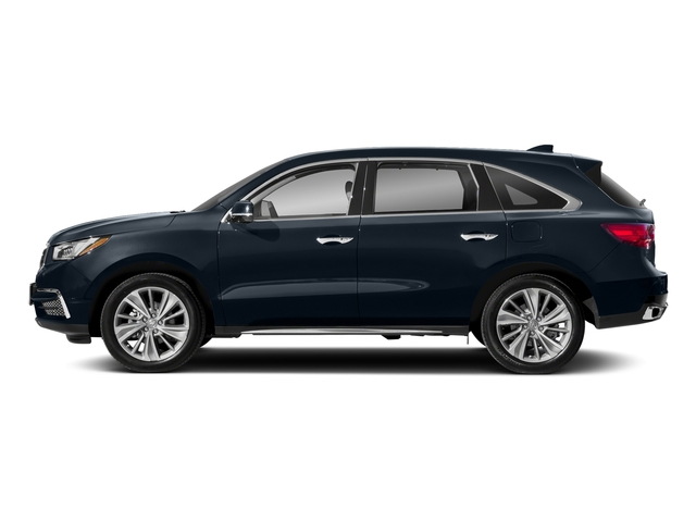 Fathom Blue Pearl 2018 Acura MDX Pictures MDX Utility 4D Technology DVD 2WD photos side view