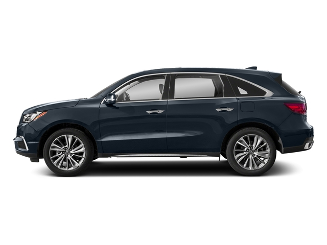 Fathom Blue Pearl 2018 Acura MDX Pictures MDX SH-AWD w/Technology Pkg photos side view