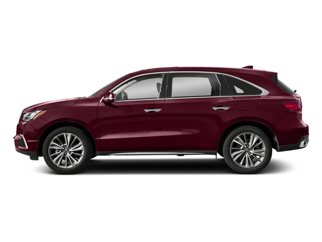 Basque Red Pearl II 2018 Acura MDX Pictures MDX SH-AWD w/Technology Pkg photos side view