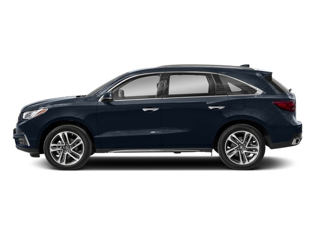 Fathom Blue Pearl 2018 Acura MDX Pictures MDX FWD w/Advance/Entertainment Pkg photos side view