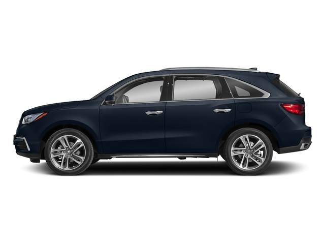 Fathom Blue Pearl 2018 Acura MDX Pictures MDX Utility 4D Advance DVD AWD photos side view
