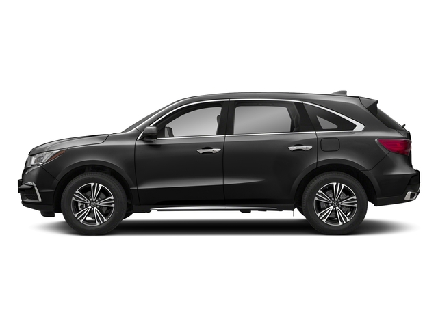 Crystal Black Pearl 2018 Acura MDX Pictures MDX SH-AWD photos side view