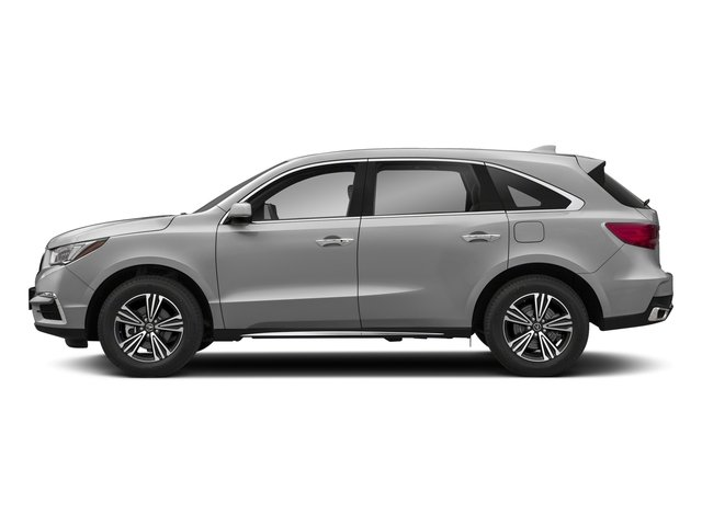 Lunar Silver Metallic 2018 Acura MDX Pictures MDX SH-AWD photos side view