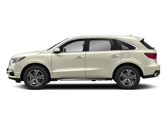 White Diamond Pearl 2018 Acura MDX Pictures MDX Utility 4D AWD photos side view
