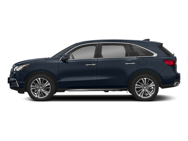 Fathom Blue Pearl 2018 Acura MDX Pictures MDX SH-AWD w/Technology/Entertainment Pkg photos side view