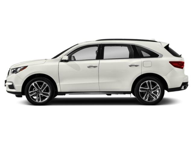 White Diamond Pearl 2018 Acura MDX Pictures MDX FWD w/Advance Pkg photos side view