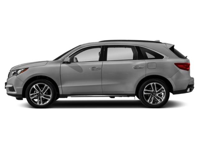 Lunar Silver Metallic 2018 Acura MDX Pictures MDX FWD w/Advance Pkg photos side view