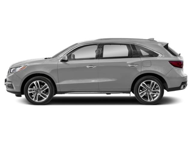 Lunar Silver Metallic 2018 Acura MDX Pictures MDX FWD w/Advance/Entertainment Pkg photos side view