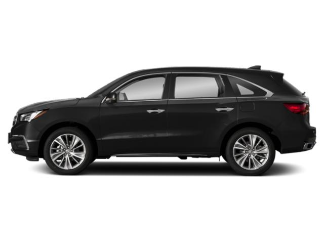 Crystal Black Pearl 2018 Acura MDX Pictures MDX FWD w/Technology Pkg photos side view