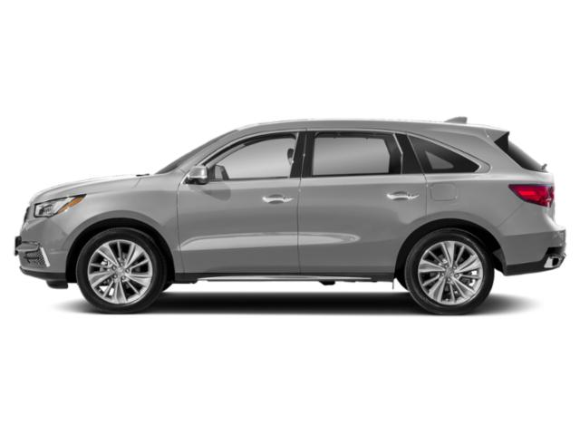 Lunar Silver Metallic 2018 Acura MDX Pictures MDX Utility 4D Technology DVD 2WD photos side view