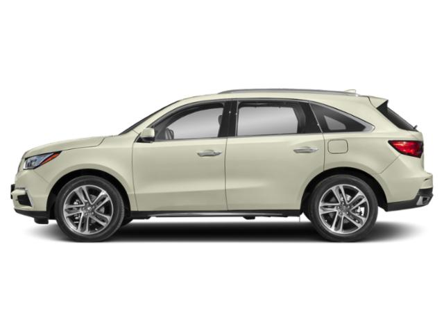 White Diamond Pearl 2018 Acura MDX Pictures MDX Utility 4D Advance DVD AWD photos side view