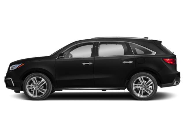 Crystal Black Pearl 2018 Acura MDX Pictures MDX Utility 4D Advance DVD AWD photos side view